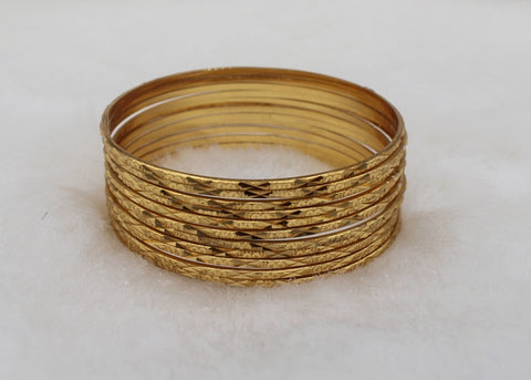 Traditional Gold Plated Bangles(Pack of 12 Bangles)JBD98