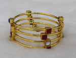 Designer Gold Plated Brass Bangles( Pack of 4)JBD19