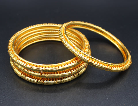 Gold Plated Brass Bangles( Pack of 4)JBD39