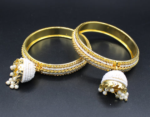 Traditional Gold Plated Bangles(Pack of 2 Bangles)JBD36