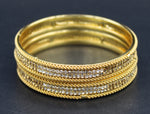 Gold Plated Brass Bangles ( Pack of 2)JBD43