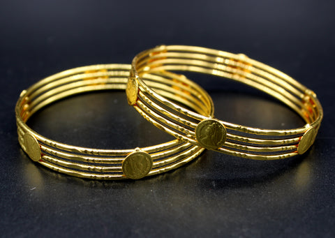 Traditional Gold Plated Bangles (Pack of 4)JBD35