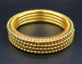 Gold Plated Brass Bangles (Pack of 4)JBD47