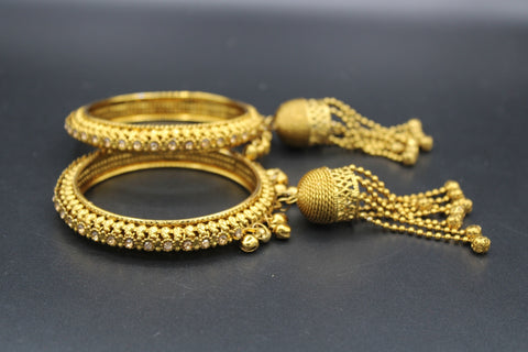 Traditional Gold Plated Bangles(Pack of 2 Bangles)JBD62