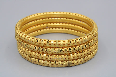 Traditional Gold Plated Bangles (pack of 4)JBD100