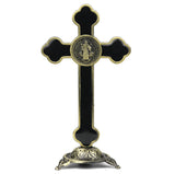 Jesus Christ Holy Cross Idol  Metal Statue for Car  Dashboard
