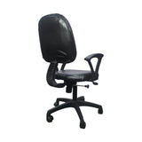 Fabric Study Arm Chair  (Black)