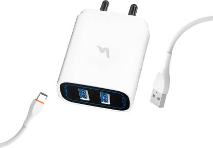 Ubon CH-600 5 W 3.4 A Multiport Mobile Charger with Detachable Cable  (White, Cable Included)