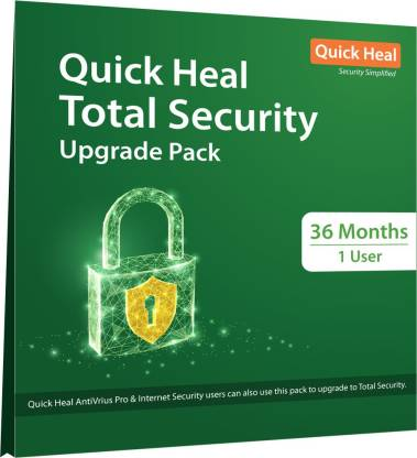 Quick Heal Total Security 1 User 3 Years (Renewal)  (CD/DVD)