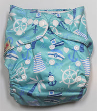 Load image into Gallery viewer, Light Blue Sailing Modern Cloth Nappy