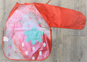 Strawberry Long Sleeve Bib