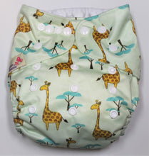 Load image into Gallery viewer, Giraffe Modern Cloth Nappy