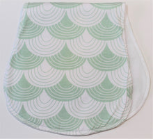 Load image into Gallery viewer, Green Scale Burp Cloth