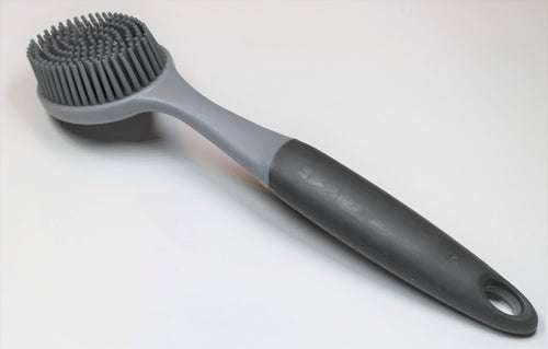 Grey Rubber Scrub Brush