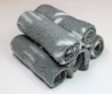 Load image into Gallery viewer, (5pcs) Reusable Grey Fleece Wipes