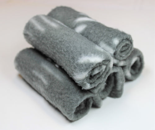(5pcs) Reusable Grey Fleece Wipes