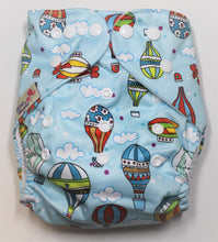 Load image into Gallery viewer, Hot Air Balloon Modern Cloth Nappy