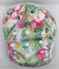 Load image into Gallery viewer, Flamingo Floral Swim Nappy