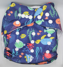 Load image into Gallery viewer, Under The Sea Modern Cloth Nappy