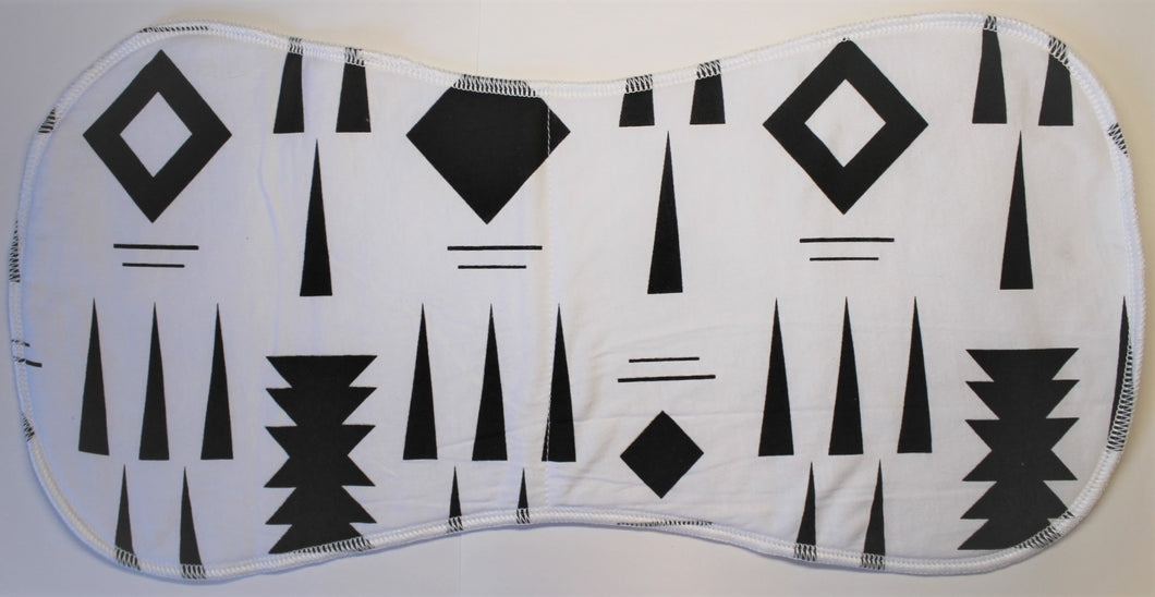 Black & White Burp Cloth