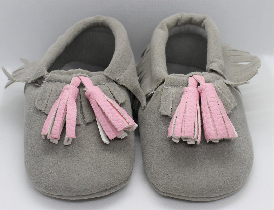 Grey Tassel Shoes