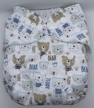 Load image into Gallery viewer, Teddy Bear Modern Cloth Nappy