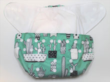 Load image into Gallery viewer, Green Cactus Hook & Loop Modern Cloth Nappy