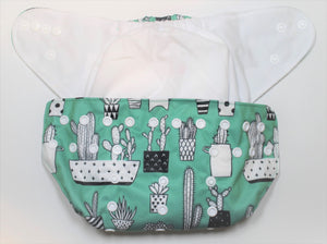 Whale Hook & Loop Modern Cloth Nappy