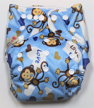 Load image into Gallery viewer, Monkey Modern Cloth Nappy