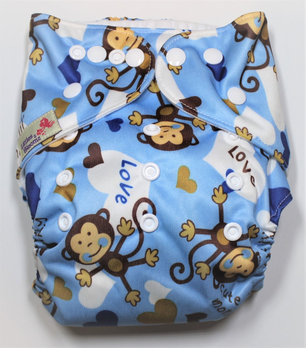 Monkey Modern Cloth Nappy