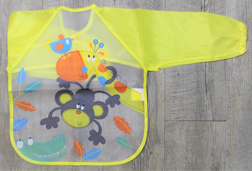Monkey Long Sleeve Bib