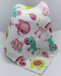 Pink Animals Bib