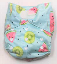 Load image into Gallery viewer, Watermelon Hook & Look Modern Cloth Nappy
