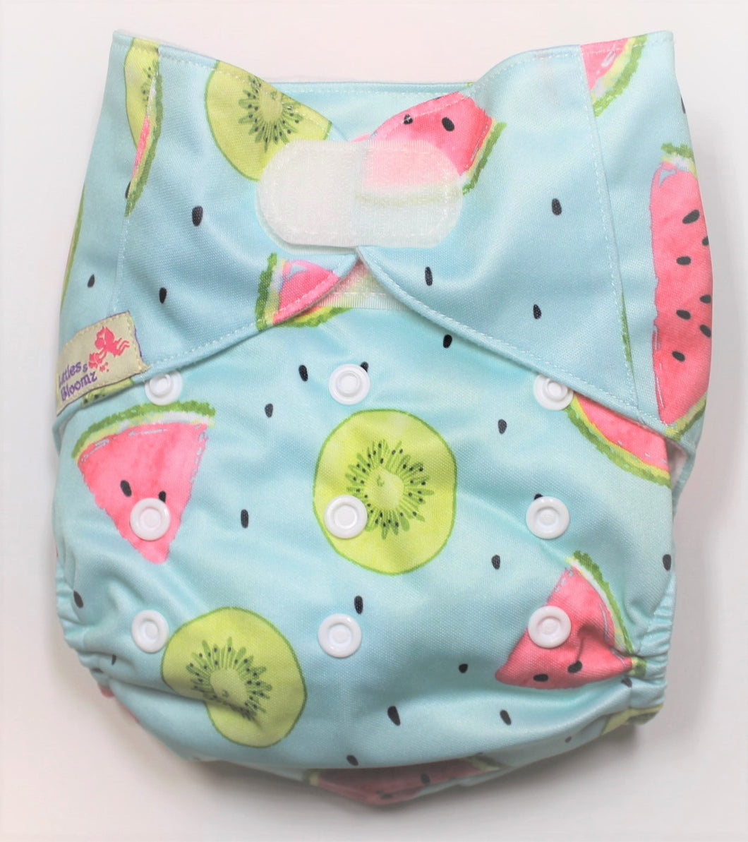 Watermelon Hook & Look Modern Cloth Nappy