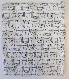 White Cats Double Pocket Wet Bag