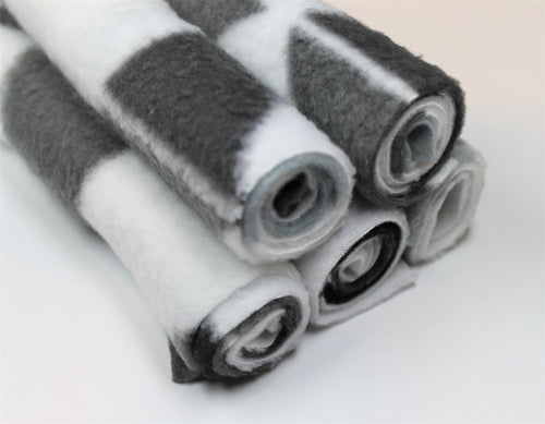 (5pcs) Reusable White & Grey Fleece Liner