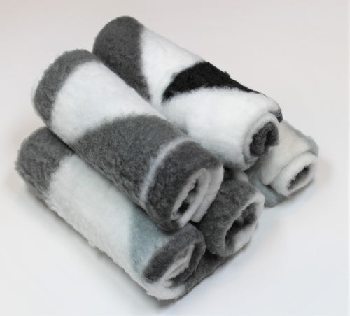 (5pcs) Reusable White & Grey Fleece Wipes