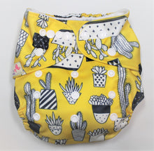 Load image into Gallery viewer, Yellow Cactus Modern Cloth Nappy