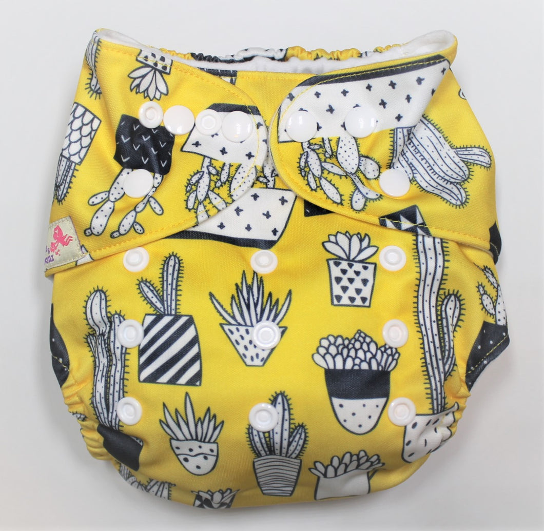 Yellow Cactus Modern Cloth Nappy