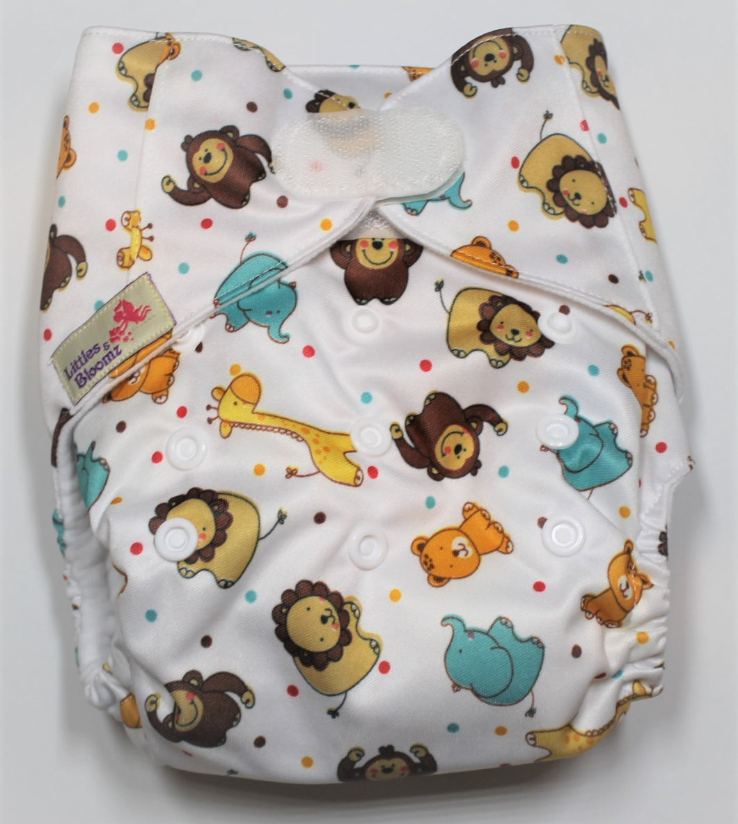Zoo Hook & Loop Modern Cloth Nappy
