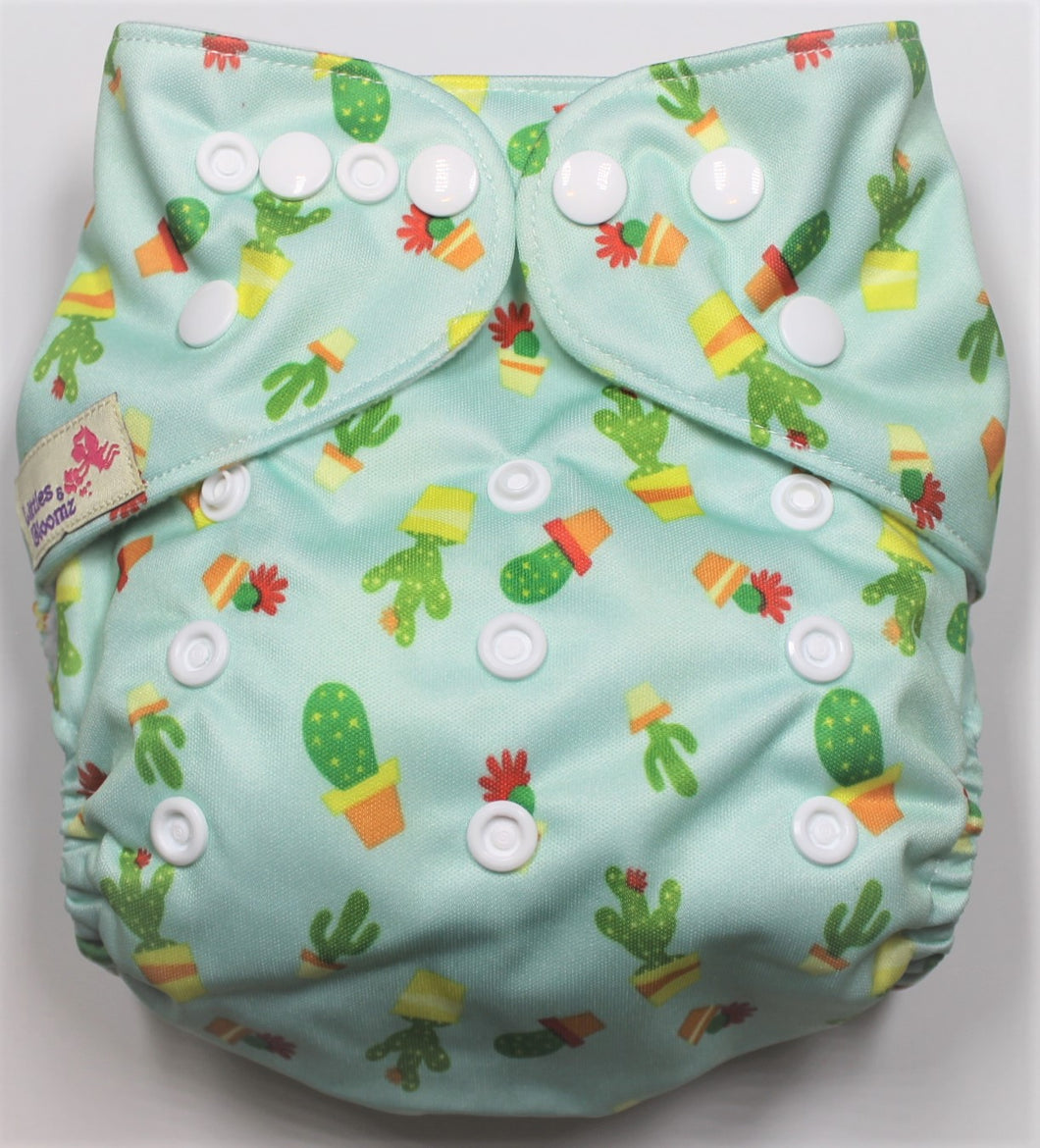 Small Cactus Modern Cloth Nappy
