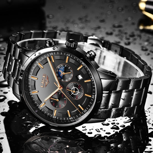 2e34a8a704 ... Top Business Luxury Stainless Steel Waterproof Quartz Men Watch - Buy  Stylish Fashion Watches Online