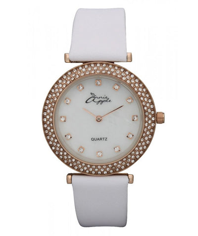 Annie Apple Mother Of Pearl Rose Gold and White Watch Ladies