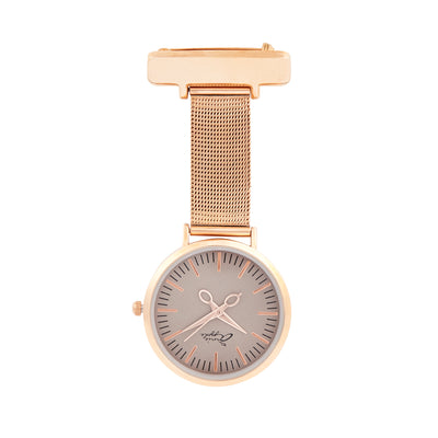 Annie Apple Bronze And Rose Gold Mesh Nurse Fob Watch Ladies