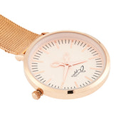 Annie Apple Rose Gold Mesh Nurse Fob Watch Ladies