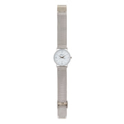 Annie Apple 'Alore' Ladies Silver Mesh Strap Hairdresser Scissor Hands Wrist Watch