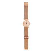 Annie Apple 'Alore' Ladies Rose Gold Mesh Strap Hairdresser Scissor Hands Wrist Watch Ladies