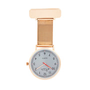 Annie Apple Rose Gold Interchangeable Nurse Fob watch Ladies
