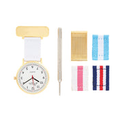 Annie Apple Gold Interchangable Nurses Fob Watch Ladies
