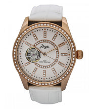 Annie Apple Eternity Swarovski Rose Gold and White Automatic Watch Ladies